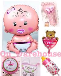 balon foil baby shower - balon baby boy - baby girl paket hemat