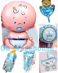 balon foil baby shower - balon baby girl - baby girl paket hemat