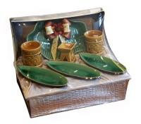 Parcel Set Keramik Daun dan Set Keramik Tempat Lilin