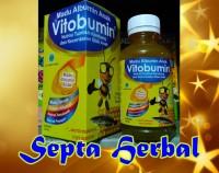 VITOBUMIN Madu Albumin Anak Nafsu Makan & Kecerdasan Sejenis Vitabumin