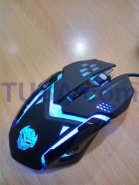 Mouse Gaming Rexus X6 (RXM-X6) warna hitam + LED RGB