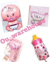 Balon foil baby shower paket - balon baby girl baby boy paket