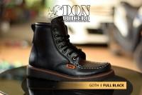 SEPATU PRIA CASUAL BOOTS DONDHICERO GOTH FULL BLACK ASLI IMPORT