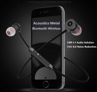 Headset Bluetooth Sports 4.1 Handsfree Earphone Acoustics Metal Solid