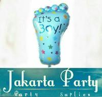 Balon Foil Foot Baby Boy Jumbo / Balon Kaki / Balon Baby Shower