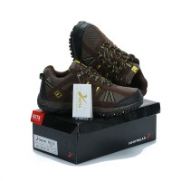 Sepatu Gunung KETA 427 BROWN YELLOW Trekking/Hiking/Adventure/Outdoor