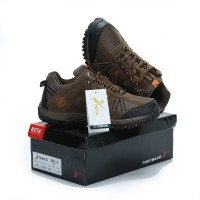 Sepatu Gunung KETA 427 BROWN ORANGE Trekking/Hiking/Adventure/Outdoor