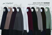 Basic Non Pet (Ukuran M) Khimar Niqab Cadar Tali - Khadijah Indonesia
