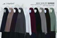 Basic Non Pet (Ukuran L) Khimar Niqab Cadar Tali - Khadijah Indonesia