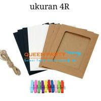 Frame foto size 4R / wodden clip / frame gantung / frame photo
