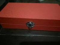kotak pensil bahan kulit