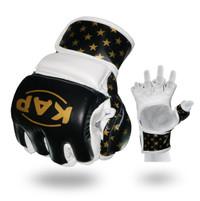 Sarung Tinju KAP 1521 MMA - Hitam/Putih/Emas