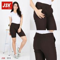 Celana pendek wanita celana santai warna coklat tua 111 ORIGINAL