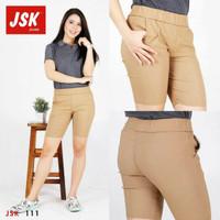 Celana pendek wanita celana santai warna coklat muda 111 ORIGINAL