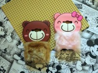 Samsung Galaxy J5 3D Rabbit Fur Bear Plush Flurry Soft Silicon Case