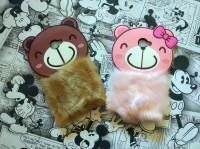 Samsung J5 Prime 3D Rabbit Fur Bear Plush Flurry Soft Silicon Case