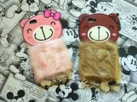 Xiaomi Redmi 4A 3D Rabbit Fur Bear Plush Flurry Soft Silicon Case