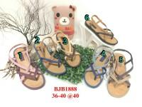 jelly sandal wanita tali bara bara sendal flat karet import bjb1888