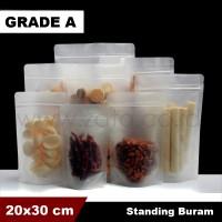 Plastik bag buram 20x30 standing pouch | plastik ziplock | kemasan