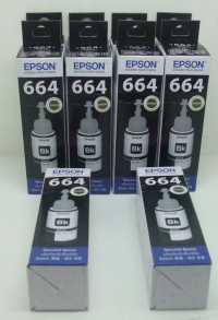 Tinta Printer Original Epson 664 T664 Black / Hitam T6641 L100 L110