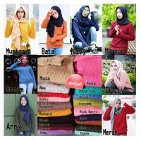 Jual Baju Sweater Korea Rajut Atasan Wanita Roundhand Series Murah