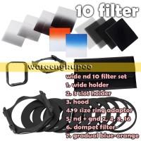 Filter Kotak Square Nd Gnd 2 4 8 16 + warna + 9 ring + 2 holder