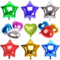 BALON FOIL MINI LOVE STAR / BENTUK HATI BINTANG WARNA WARNI