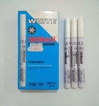 Spidol Putih Permanent Snowman Kecil (FWP)