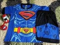 Baju Superman/baju karakter superman/baju superhero anak/setelan anak