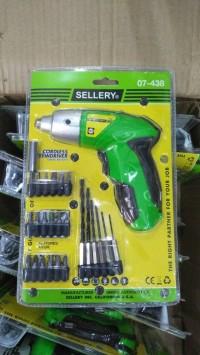 Bor obeng baterai mini cordless SELLERY