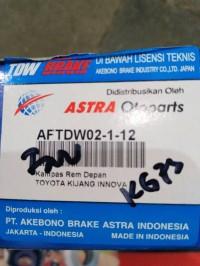 brake pads / kampas rem innova depan merk TDW