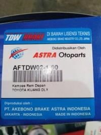 brake pads / kampas rem depan kijang super/ grand merk TDW