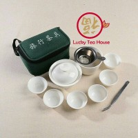 Chinese tea set gaiwan cangkir teh teko kungfu teapot keramik travel