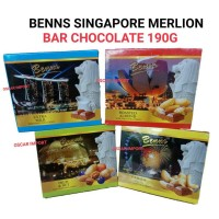 BENNS SINGAPORE MERLION BAR CHOCOLATE 190G COKLAT