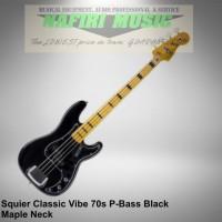 Squier Classic Vibe Precision Bass 70s Maple Neck Black baru original