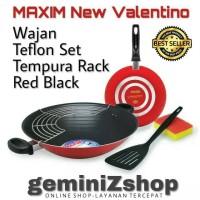 MAXIM New Valentino Wajan Teflon Set - Red Black