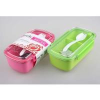 Lunch Box YooYee 077 BPA Free Kotak Bekal Makan Anti Bocor + Garpu