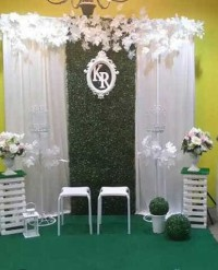 dekorasi lamaran/backdrop lamaran/backdrop photobooth/wedding