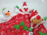 Hiasan Natal Boneka Kaos Kaki Motif Santa Snowman Rudolph Christmas