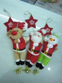 Boneka Natal Gantung Santa Snowman Rudolf Deer Lonceng Star Christmas
