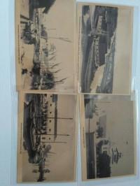 kartu pos bergambar Batavia jadul betawi pasar ikan sekitarnya