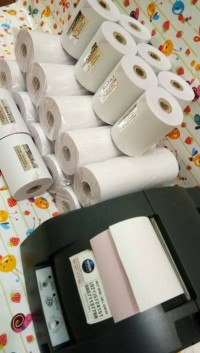 KERTAS STRUK 75 X 60 2 PLY PAPER ROLL PRINTER KASIR