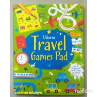 Usborne Travel Games Pad, Buku Import Aktifitas Anak, Activity Book