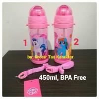 Botol Minum Anak Cewe Karakter My Little Pony 450ml Tempat Minum Bekal