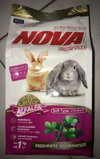 nova 1kg freshpack 1 kg makanan kelinci royal britter hatory alfalfa