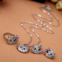PROMO MURAH Set perhiasan Hello Kitty / kalung anting cincin hk import