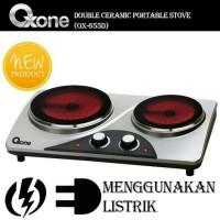 Oxone Kompor Listrik 2 Tungku / Double Ceramic Portable OX-655 D