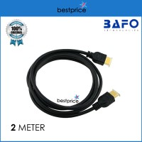 Kabel HDMI GOLD BAFO 2M Premium Quality with ETHERNET V 1.4 2 Meter