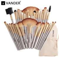 Vander 32 Makeup Brush Kabuki Foundation Blending with Bag Champagne
