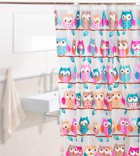 [ OWL ] Tirai Kamar Mandi anti air PEVA sudah dilengkapi pengait - OWL